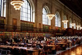 Inside the New York Public Library. I remember finding a Milton quote above a door there, and thinking how could I ever leave this city?