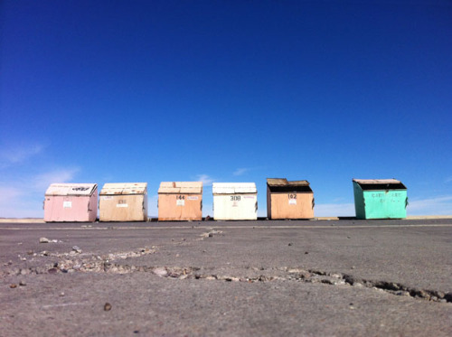 velvetglass:  Trash containers. Truth Or Consequences, New Mexico