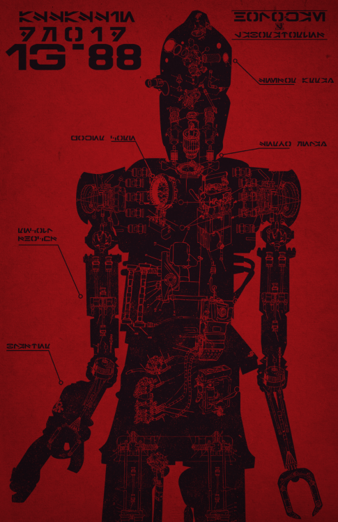 My IG-88 schematic design is once again available as a poster at Etsy! It's kind of a counterpoint to these designs.  Expect a shirt in the near future, as soon as I fix up the art for it!