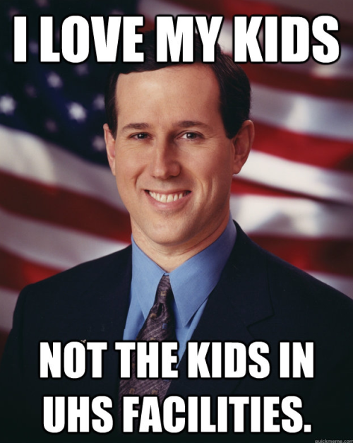 Santorum sat on the board of UHS (Universal Health Services) from 2007-2011. During that time, children were horribly abused and neglected. UHS facilities have been the subject of DOJ & state authority investigations. http://www.huffingtonpost.com/2012/02/21/rick-santorum-uhs-hospitals-patient-rights_n_1276403.html