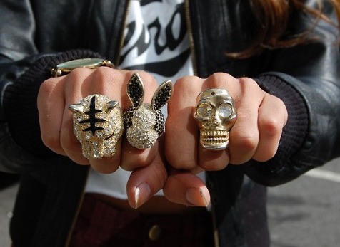 Statement Rings! We're head-over-heels!