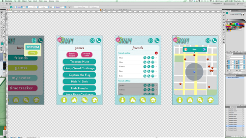 Working on the interface design. Lots more to go, but it's so much fun as each window gets designed I can really begin to see this in action. Once I get enough frames designed for each of the scenarios, the next step is working them into a walk-through video.
