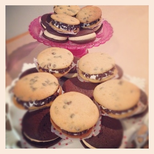 time to #party! #pinterest potluck starts now!! #cocolovehomemade #whoopiepies  (Taken with instagram)