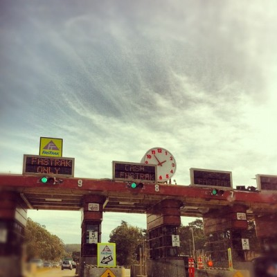 Golden Gate toll plaza (Taken with instagram)