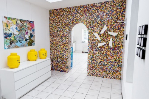 LEGO wall / room divider (via Fubiz™)