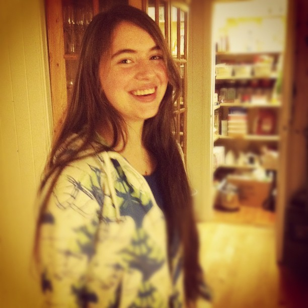 Look ho is here :D #whiiioooo #girl #sleepover (Taken with instagram)