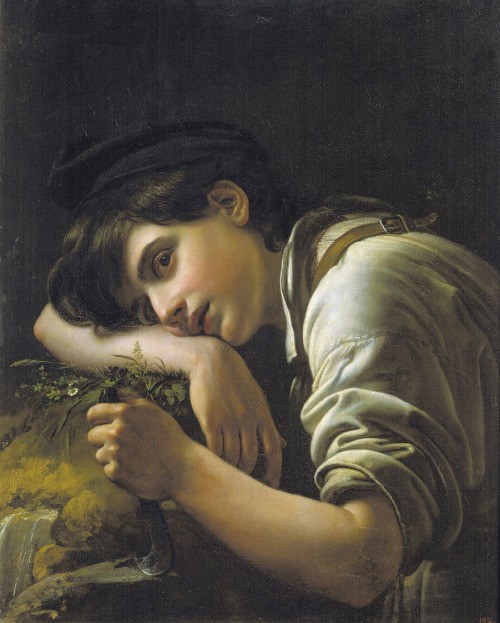 enjoliveur:  Orest Kiprensky - A Young Gardener