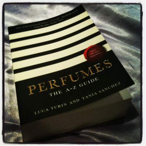 Book Review - Perfumes: The A-Z Guide by Luca Turin & Tania Sanchez This book is filled with reviews of fragrances from many perfume houses Chanel, Dior, Lush, Penhaligon's, Kenzo, Guerlain & more. Turin an acclaimed scientist & Sanchez a longstanding perfume critic have written entertaining reviews of hundreds of well known scents giving each a star rating. Some receive glowing commentary while others get a downright contemptuous putdown. My family & I had great fun looking up each of our favoured scents especially when we found flippant remarks about my Dad's taste in aftershave! On a more serious note this book is an incredibly useful read for those interested in learning more about perfume. The introductory pages contain a brief history of perfume, notes on how to connect the nose to the brain, information about feminine & masculine notes as well as an interesting question & answer section.  This publication is one to read if only to be amused by the acidic text accompanying those blends that the authors find disagreeable.