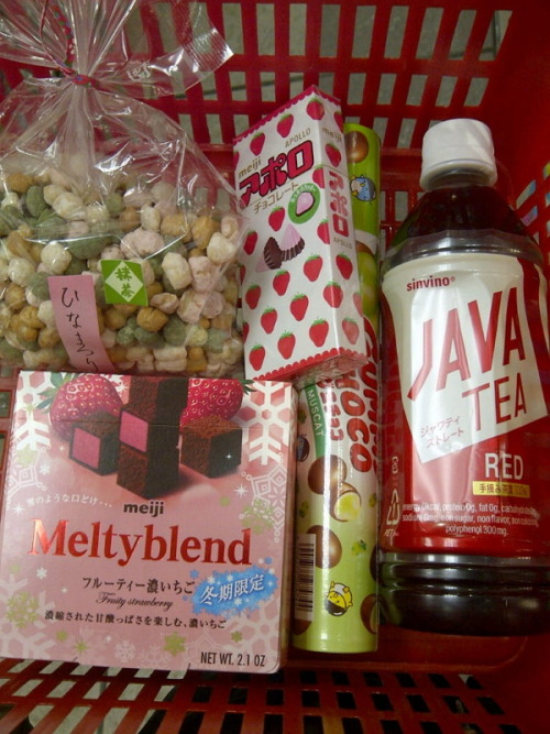 a post-valentine's day pink & red candy spree