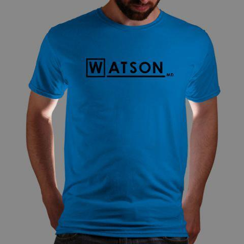 "qwertee:  ""Watson M.D"", one of our most popular tees as voted for by you guys on www.Qwertee.com is live in just 15 mins. Get yours now for the super price of £8/€10/$12 for 48 hours only! Be sure to ""Like"" this for 1 chance at a FREE TEE next weekend, ""Share"" it for 2 chances and ""Comment"" on it for a 3rd chance. PS This weeks winners will go live with the new tee (see the first comment by Qwertee) it could be YOU!  It's elementary my dear."