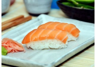 If you are making sushi at home, salmon doesn't get better than the sweet, sweet taste of Atlantic salmon. Stuff your cheeks like a squirrel and you're in for a surprise. The surprise is salmon!