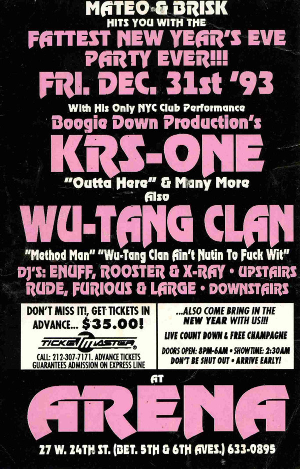 KRS-One x Wu-Tang Clan - New Years Eve Party '93
