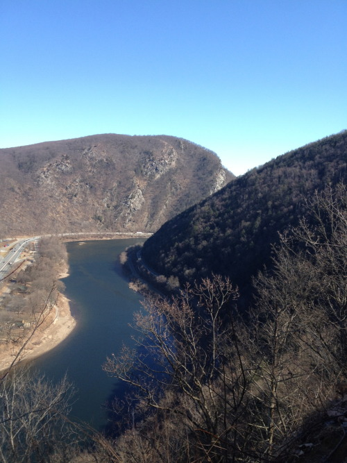 Mt. Tammany and the Delaware River from the AT on Mt. Minsi