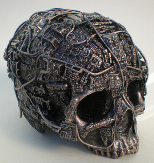 fannypad:  techno skull by ~richardsymonsart