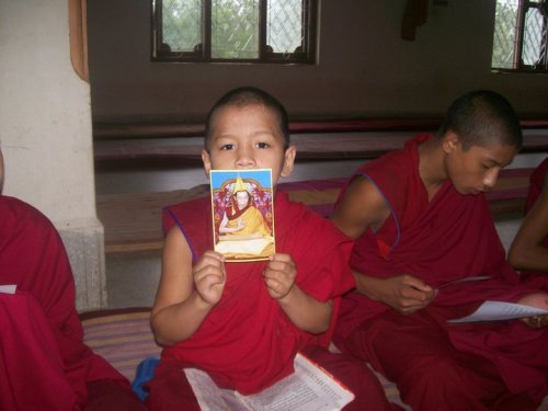 purpleaggregates:  Yay! My Spiritual Guide! Venerable Geshe Kelsang Gyatso! :D  cute :)