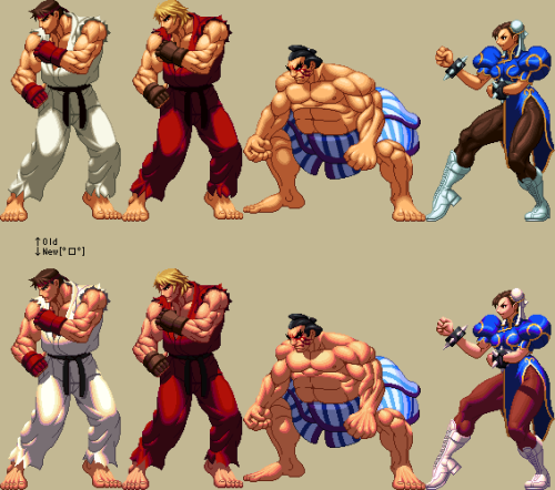 classicrearmed:  street fighter in KoF XII style