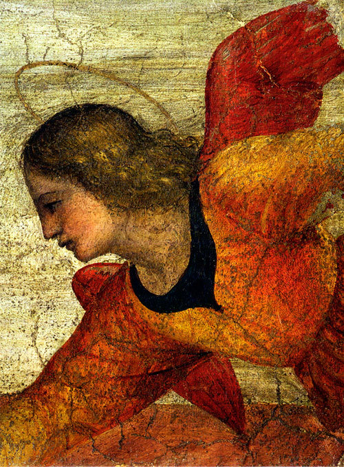 birdsong27:  Bernardino Luini (c1480-1532) - Fresco detail: Angel (via)