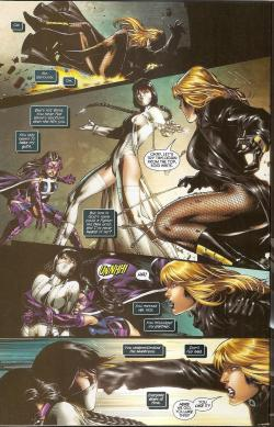 gailsimone:  nanigasy:  scans_daily | Birds of Prey #2 Against the White Canary!  If I were asked the two things I miss the most about the new 52, it would probably not be the obvious suspects. Yes, I miss the benched characters and Donna Troy and WW's origin and all of that stuff. But personally, just me talking, the two things I miss the most are the Lois/Clark marriage, and the Birds of Prey being friends. I miss that Huntress and Oracle and Canary and Zinda loved each other and always had each others' back, no matter what.  That Huntress would throw a drink in Shiva's face to protect Canary, that Canary would face Brainiac's electrocution to protect Oracle.  I think that their relationship was one of the most subversive messages in mainstream comics, in some ways.  And readers responded, the book was one of the most stable non-bat, non-gl books at DC the entire time I was on it. I think it was that friendship that people most treasured, and, I hasten to add, that helped make it the first truly successful all female team book in comics' history, to my knowledge. I like the new 52, and I like the new BOP in particular, Duane's doing a lovely job on it, but it's not yet (for perfectly understandable reasons, and it may never be) a book about female friendship in the same way that it had been previously. Similarly, there are few female friendships at all at this early stage, and I dearly miss them. Fortunately, there's room to grow, even if the cart moves slower than I would like. That said, Bop really IS one of the best of the new books and is always worth reading!