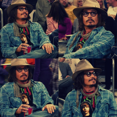 Johnny Depp wearing a Justin Bieber top in Jack and Jill.