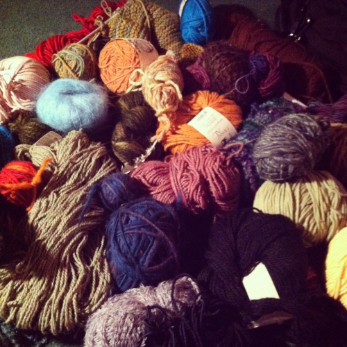 cooljeweledmoon:  Goal for this vacation: use all of this beautiful yarn