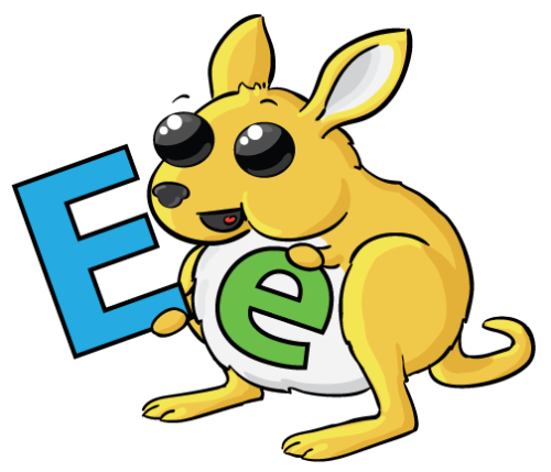 "The letter of the month is ""e""."