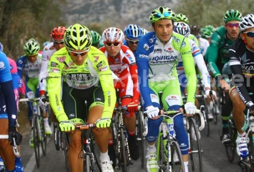 2012 Trofeo Laigueglia: Was Ivan the Terrible the neon highlighter green-eyed monster of jealousy when he realized that Pippo is easier to locate in aerial shots than he is? (Credit: Riccardo Scanferla via Photors.net)