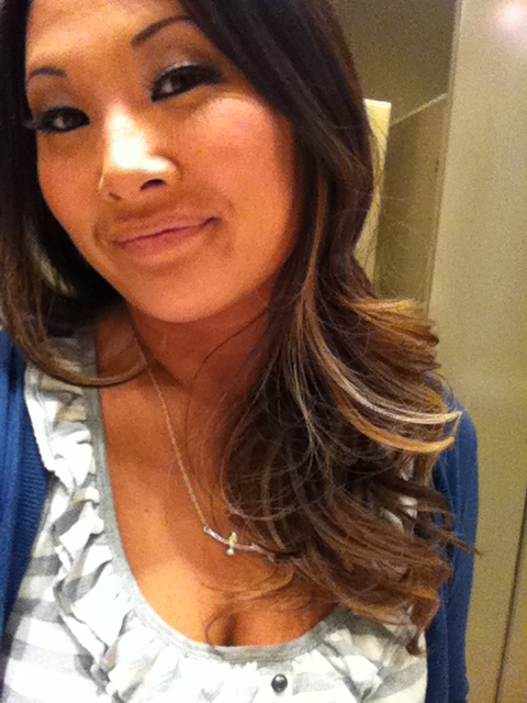 Went with the ombré. Anna talked me into it.