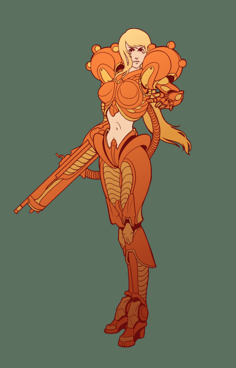 bmshort:  Post III I can't believe how old some of these are!! Samus Aran doodle done for a friend. Samus Aran . GIMP . 2008