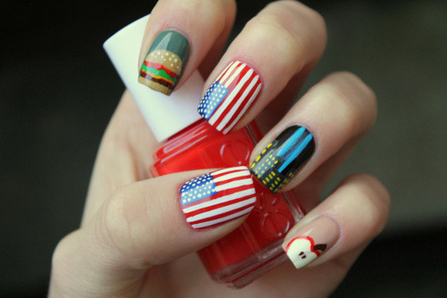 jadoremavieparisienne:  Cute art nails