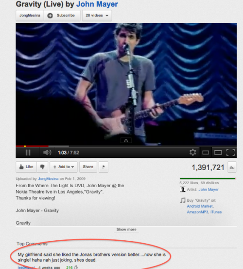 manoosegoose:  icantgetenoughofyou:  hahaha people on youtube crack me up :)   no seriously tho..