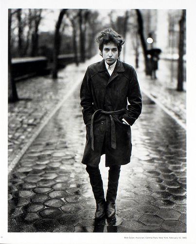 Bob Dylan in Central Park - Richard Avedon