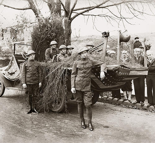 1920. Easton Pennsylvania Armistice Day Parade Float.