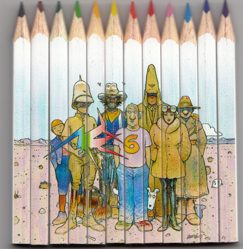 A colored pencil set bought at Moebius' art show at the Fondation Cartier.  [sent by qnasll]
