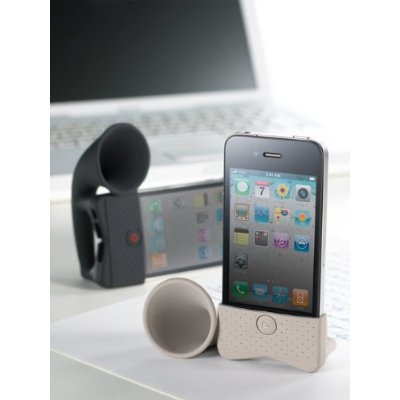 PORTABLE AMP FOR IPHONE HORN STAND WHITE    Click on the picture for more details.