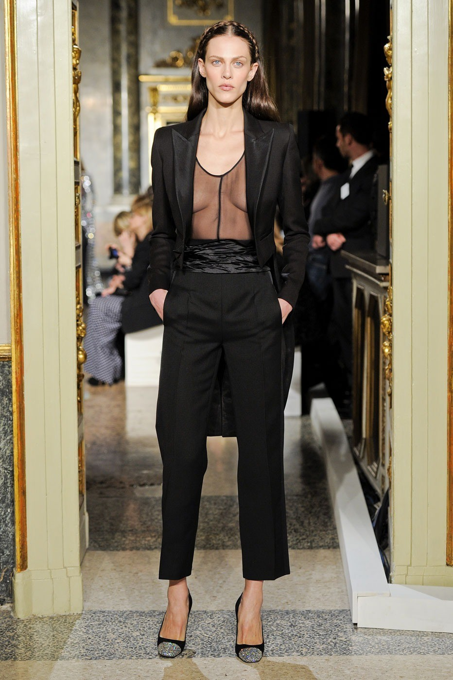 Aymeline Valade at Emilio Pucci Fall 2012, February 25th