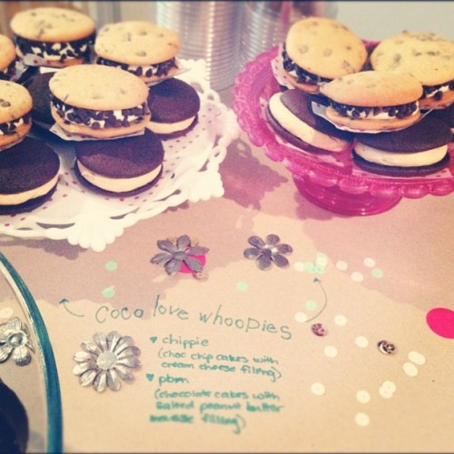 #cocolovehomemade #whoopiepies for the #pinterest potluck!! (Taken with instagram)
