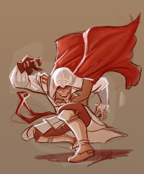 theawkwardgamer:  Ezio Auditore from Florence by VP-ArtWorks  Oohhhh this is so lively but simple, I love designs like these.