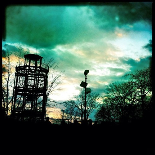 Another view of the old fire watchtower in #harlem #nyc #instamoody #sky  (Taken with instagram)