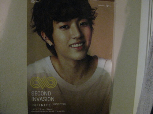 lindsayloou:  Second Invasion Sungyeol Poster Giveaway!!! I went to Second Invasion and I got an extra poster set so that I  could give some to people I love.  Some of the posters weren't claimed by anyone so I am going to give them away!  It will be shipped as safely as possible rolled up in a poster tube! Rules! reblog at most 4 times absolutely do not reblog more than 4 times liking the post counts for 1 entry (so the most you will have is 5) no giveaway blogs you don't have to follow me I will ship anywhere Giveaway ends Sunday March 11th at 12am!