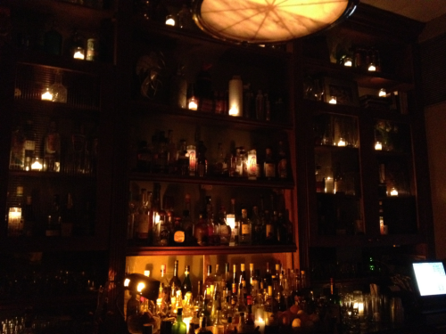 The wonder wall of mixology at the Broken Shaker at Indian Creek Hotel, Miami Beach