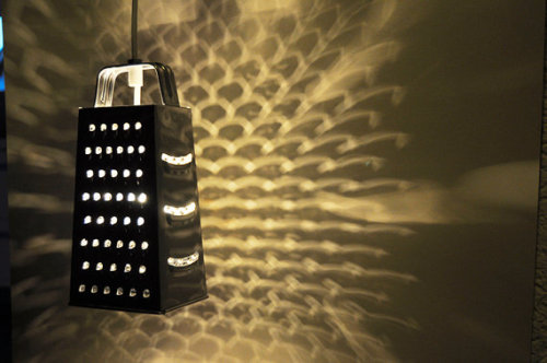 unconsumption:  Grate things, continued: Graters repurposed as lighting. (via Jordenski on Etsy)