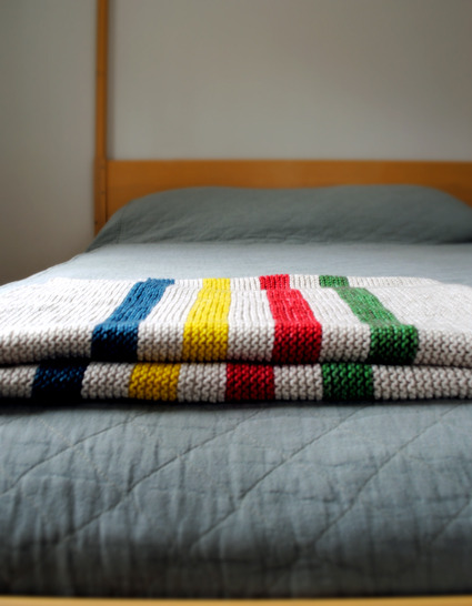 Hudson Bay Inspired Crib Blanket | Purl Bee
