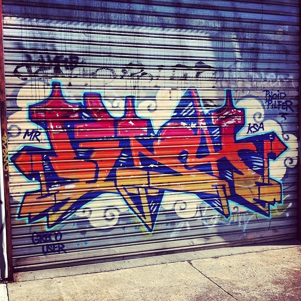 A favorite, #LENCH I think? #KSA  #Graffiti #MelbourneGraffiti (Taken with instagram)