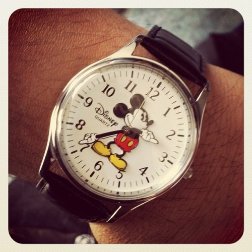 Bought myself a watch I wanted since I was a kid ! Yay #disney #disneyland #mickeymouse  (Taken with instagram)