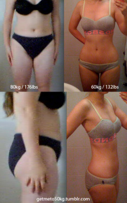 "before-and-after-pictures:  getmeto50kg 5'6"" —-    Follow for before and afters every day!"