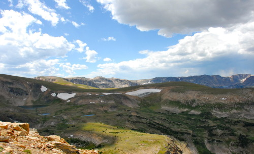 Beartooth Pass | Montana 2007 Charles Kuralt proclaimed it to be 'the most beautiful drive in America'. The Beartooth Highway is the section of US Highway 212 between Red Lodge and Cooke City, Montana. It has a series of steep zigzags and switchbacks to the 10,947 ft high Beartooth Pass. I was so glad to be in the passenger seat on this drive.