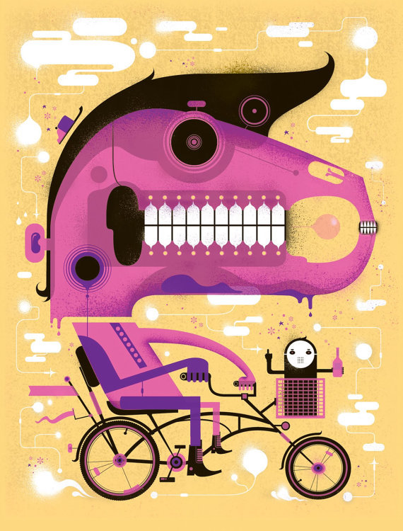 crystalbicycle:  Cruisin' For A Bruisin' by Graham Erwin