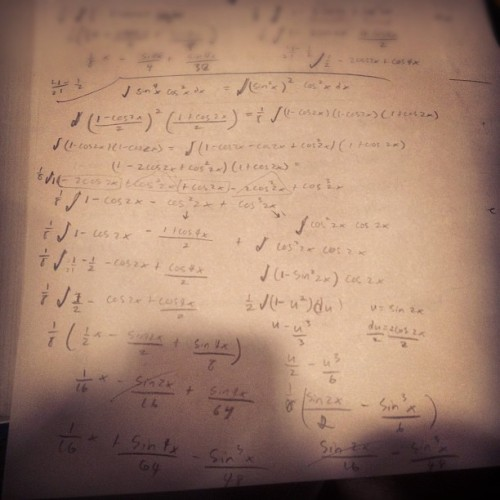 Behold, one correct Calc 2 problem (Taken with instagram)