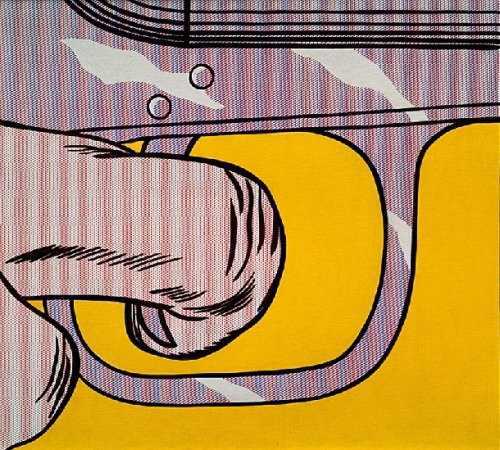 humanly:  trigger finger, 1963 by Roy Lichtenstein
