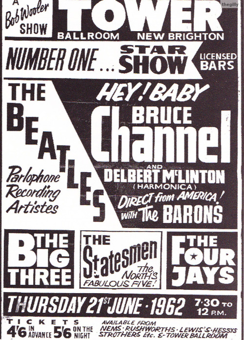 21 June 1962, Tower Ballroom, New Brighton